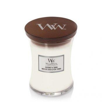 Ароматична свічка з ароматом бобів тонка Woodwick Medium Coconut Tonka 275 г