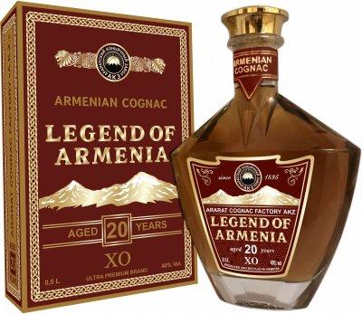 Бренді Легенда Вірменії 20 років витримки 0.5 л 40% (4850001922377)