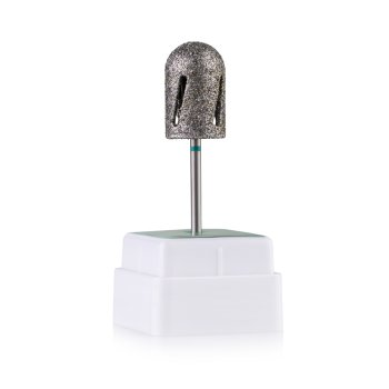 Фреза алмазна Nail Drill Twister - 488 013, для педикюру, діаметр 13 мм (зелена насічка)