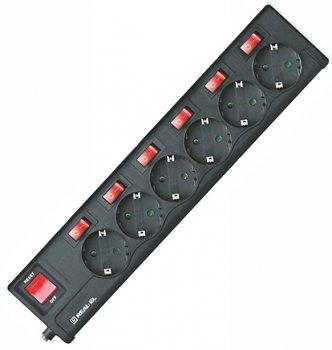 Сетевой фильтр-удлинитель Real-El RS-6 Extra 5 м Black