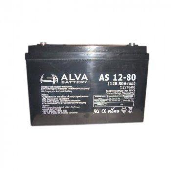 Аккумулятор ALVA battery AS12-80 (12V80AH)