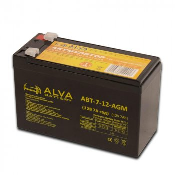 Аккумулятор ALVA battery АВТ-7-12-AGM
