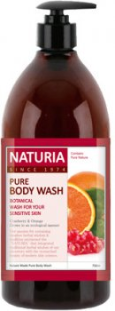 Гель для душа Naturia Клюква/Апельсин Pure Body Wash (Cranberry & Orange) 750 мл (8802929996677)