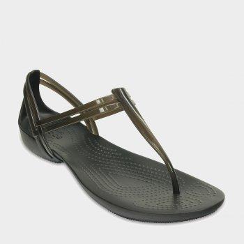 Сандалии Crocs Women's Isabella T-strap 202467-001 Коричневые