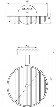 Мыльница-решетка GLOBUS LUX SS8424