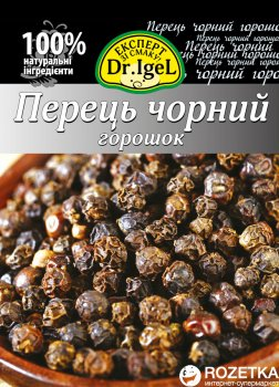 Упаковка перцю чорного Dr.IgeL горошок 15 г х 12 шт. (34820155170239)