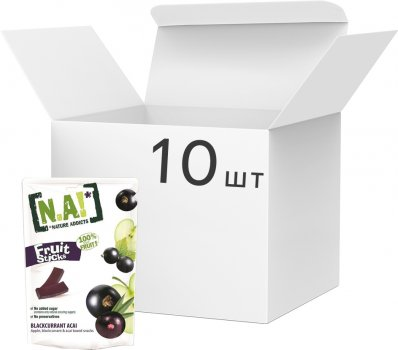 Упаковка фруктових стиків Nature Innovation (N.A!) Ягоди асаї 35 г х 10 шт. (3609209002715)