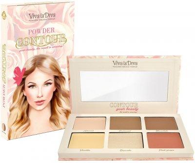 Палетка Viva La Diva Powder Contour Palette Light Medium 6 г (7330906015741)