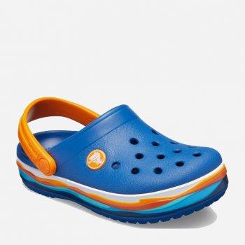 Крокси Crocs Kids 'Crocband Wavy Band Clog 205697-4GX Bluejean
