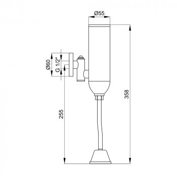 Кран для писсуара сенсорный Lidz (CRM) 90 00 082 00
