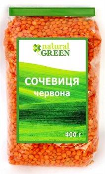 Чечевица красная Natural Green 400гр.