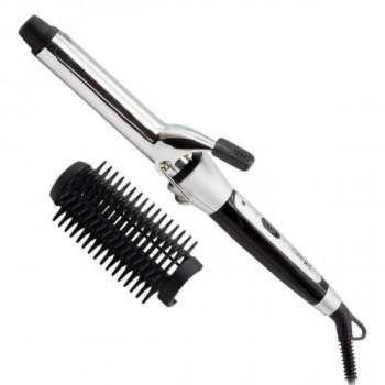 Керамічна плойка для волосся Gemei GM-2907 Чорний/Білий 30 Вт Насадка для укладання Швидкий нагрів