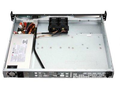 """Корпус для сервера 1U Supermicro 512F-350B, 437х369х43мм, ATX, 2x3.5"""", 350W"""
