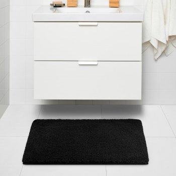 Килим для ванної кімнати IKEA ALMTJARN 60х90 см темно-сірий (604.894.22)