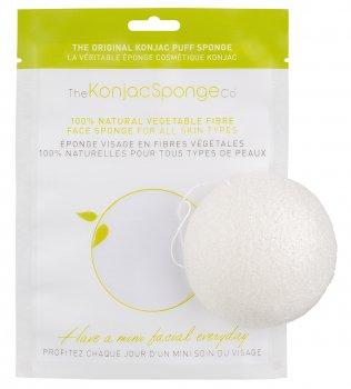 Спонж для особи Konjac sponge з чистого конжаку білий