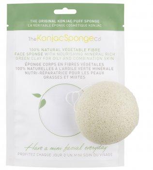 Спонж для особи Konjac sponge з конжаку і зеленою глиною