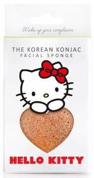 Спонж для особи Konjac sponge з конжаку і рожевою глиною зі знімним гачком Hello Kitty