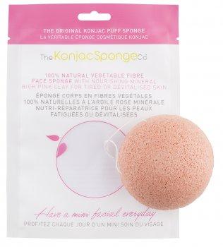 Спонж для особи Konjac sponge з конжаку і рожевою глиною