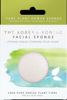 Спонж для особи Konjac sponge з конжаку 100% білий преміум (в коробці)