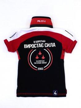 дитяче поло - 114 БРИГАДА (ІВАНО-ФРАНКІВСЬК) - чорний
