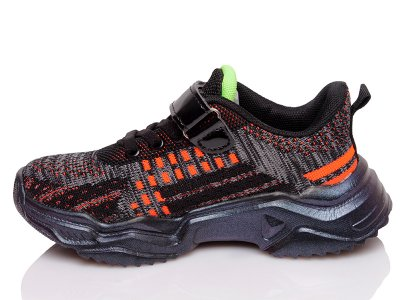 Кроссовки Kidsmix 7702 BLACK-ORANGE(32-37)-ROZ