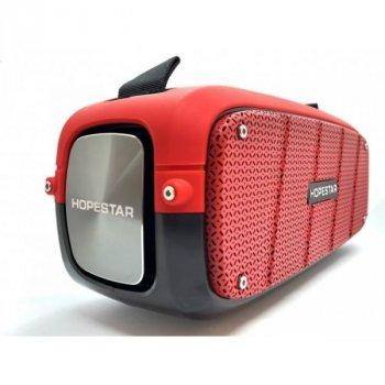 Бездротова оригінальна портативна bluetooth колонка Sound System A20 Pro Hopestar 55ВТ з вологозахистом IPX6 і функцією зарядки пристроїв червона