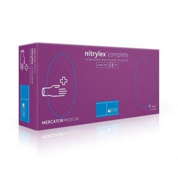Перчатки Нитриловые Неопудренные MERCATOR MEDICAL Фиолетовые M (100 шт)