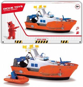 Катер Dickie Toys Спасательный с лодкой (1137005) (4006333060861)