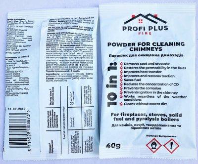 Упаковка порошку для чищення димоходів Profi Plus 40 г х 6 шт. (5900785999863)