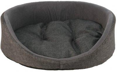 Лежанка для котів і собак овальна Форт Нокс FX Home 50х40х17 см Сіра (2820000011688)
