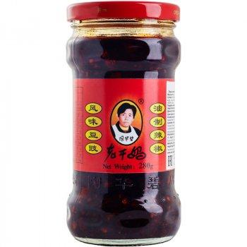 Чили соус Лаоганма из черных бобов Lao Gan Ma 280г