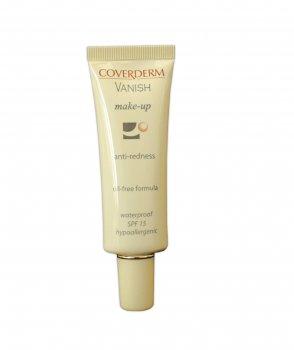 Тональный крем для коррекции покраснения лица купероза и розацеи Coverderm Vanish Make-Up SPF 15 №5 30ml (5201580229057)