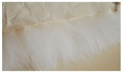Килим з 10-ти овечих шкур Білий