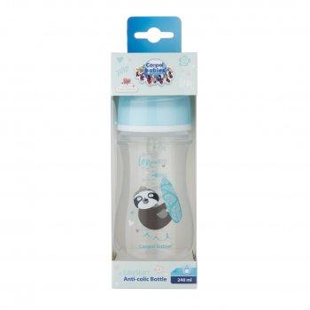 Антіколіковая пляшечка для годування Canpol Babies Easystart Toys 240 мл синя (35/221_blu)