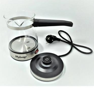Электрическая турка Mylongs KF-008 стеклянная 0,5 л 600 Вт Нержавеющая сталь