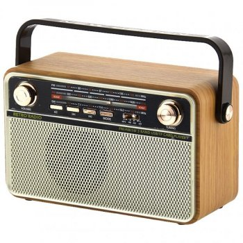 Радіо акумуляторне з Bluetooth і пультом управління Kemai Retro Gold MD-505-BT