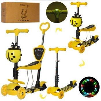 Самокат 5в1 iTrike Maxi JR 3-026-L-Y Yellow (JR 3-026-L-Y yellow)