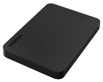 """Зовнішній диск HDD External 2.5"""" 2TB Toshiba Canvio Basics, USB3.0, Black (HDTB420EK3AA)"""