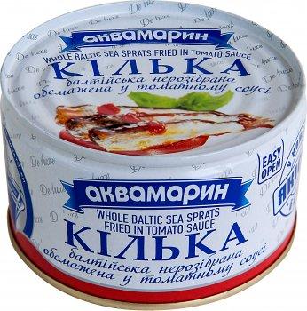 Килька балтийская Аквамарин обжаренная неразобранная в томатном соусе 230 г (4820183773722)