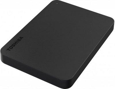 """Накопичувач зовнішній HDD 2.5"""" USB 4.0 TB Toshiba Canvio Basics Black + USB-адаптер C (HDTB440EK3CBH)"""