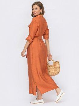 Платье Dressa 53811 Оранжевое
