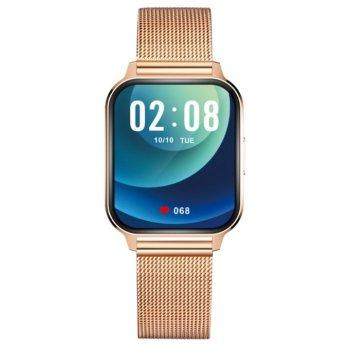Смарт-годинник Smart Evolution Gold з пульсометром і вимірюванням рівня кисню + крокомір і моніторинг сну Золотистий