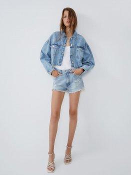 Джинсовая куртка Zara 3643/529/400-ACXD Синяя