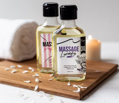 Релаксна масажна олія Sapo з ефірною олією лаванди 100 мл (ROZ6400106226)