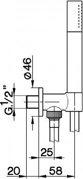 Душевой гарнитур DEVIT Art 15012140B