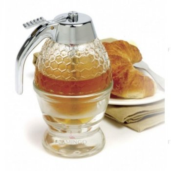 Бытовой многофункциональный кухонный контейнер с диспенсером для меда и сиропа Honey Dispenser с подставкой