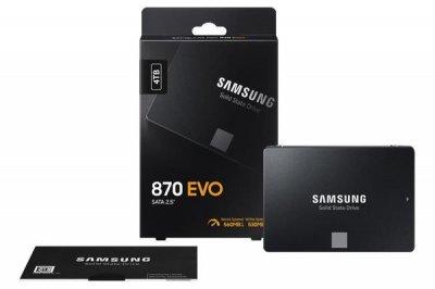 """Твердотільний накопичувач SSD 2.5"""" Samsung 870 EVO 4TB SATA 3bit MLC (MZ-77E4T0BW)"""