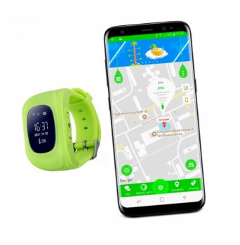 Дитячі смарт годинник Smart Baby Watch Q50 GPS Салатові