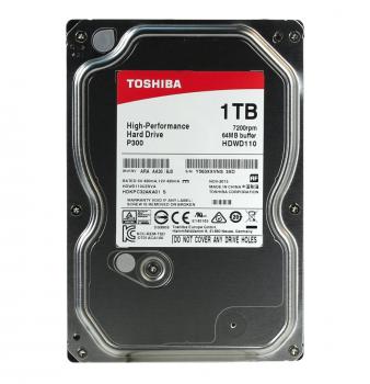 "Жорсткий диск 3.5"" 1Tb Toshiba P300, SATA3, 64Mb, 7200 rpm (HDWD110UZSVA)"