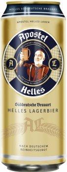 Упаковка пива Apostel Helles Lager світле фільтроване 5% 0.5 л х 24 шт. (4054500101138)